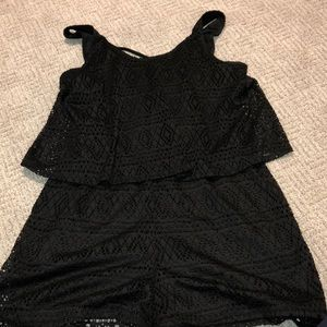 Black romper from Express